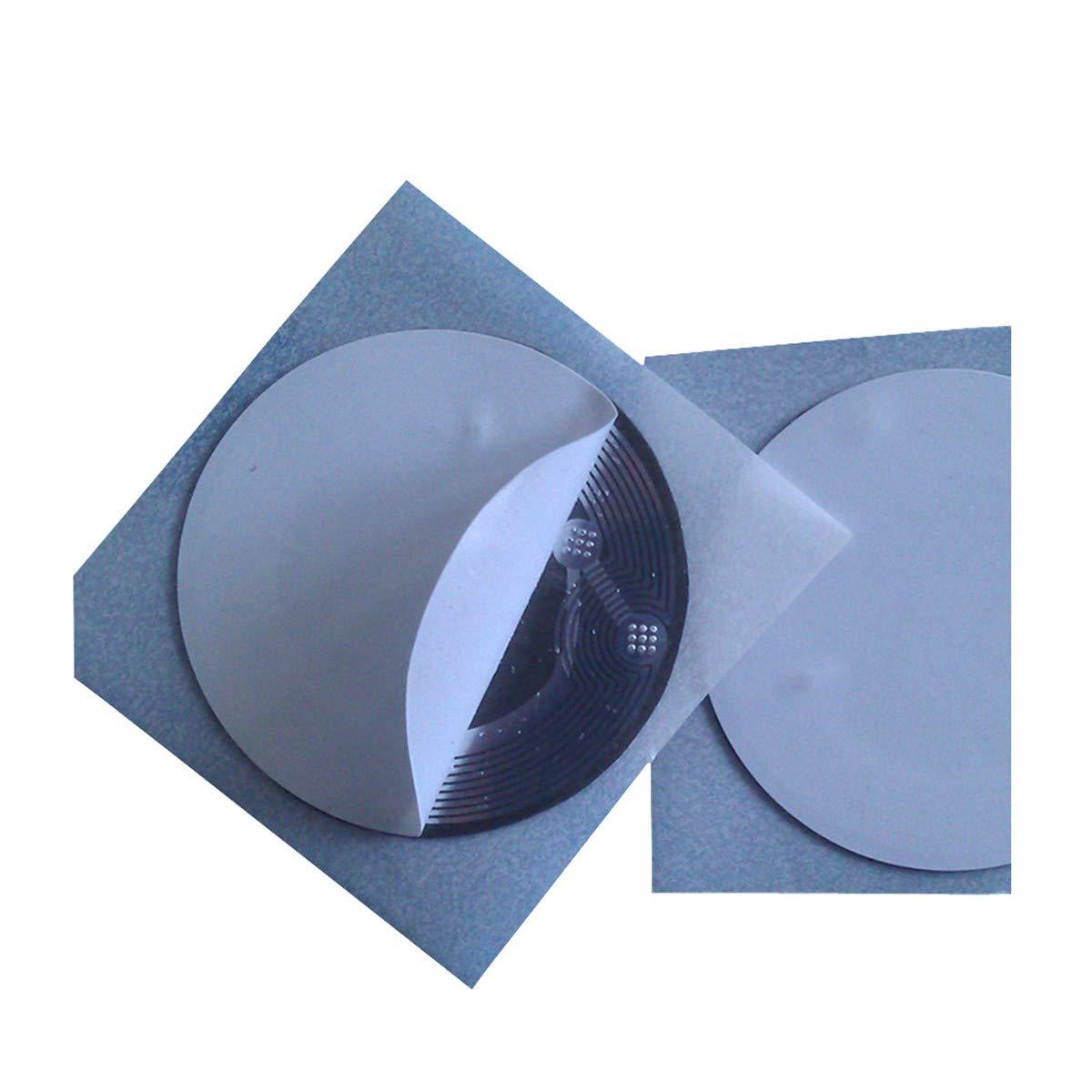 8 x Adhesivo de NFC RFID anti-metal en metal Tag Etiqueta MIFARE Classic® 1K 13, 56 MHz 25 mm de diámetro 56 MHz 25 mm de diámetro YARONG