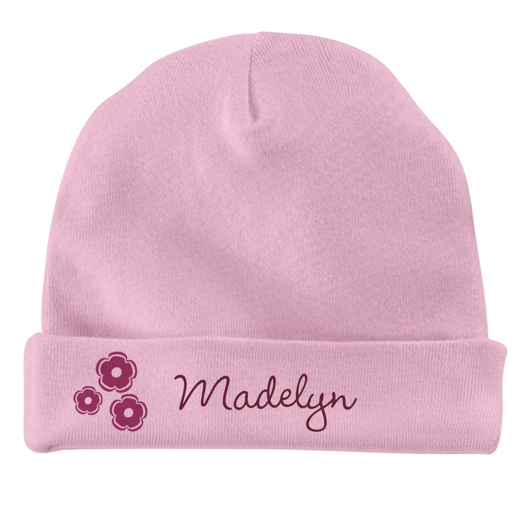 Infant Baby Hat FUNNYSHIRTS.ORG Baby Girl Madelyn Flower Hat