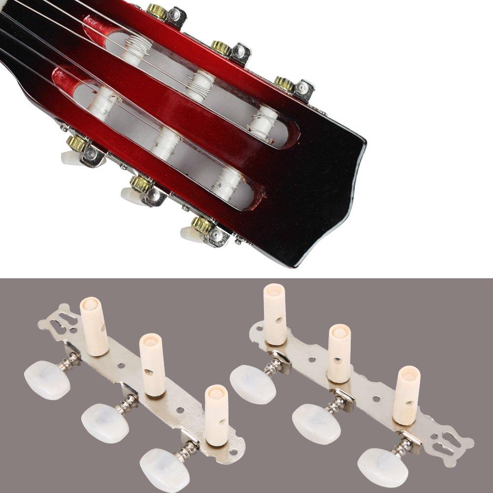 Clavijas de Afinaci/ón para Guitarra Guitar Machine Heads,3R 3L Guitar Machine Heads Cabezales de M/áquina Afinaci/ón de Cuerdas Clavijas de Afinaci/ón Afinadores de Metal para Guitarra Cl/ásica