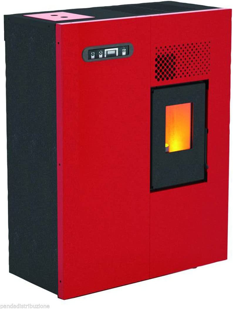 Estufa de pellets Mod.Camilla 5,16kW, color rojo.