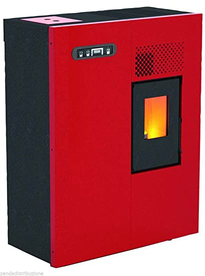 Estufa de pellets Mod.Camilla 5,16 kW, color rojo.