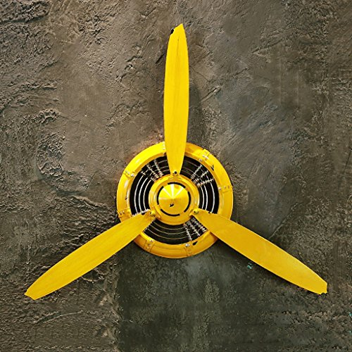 LOFT Wall Decorations Yellow Retro Industrial Style Aircraft Propeller