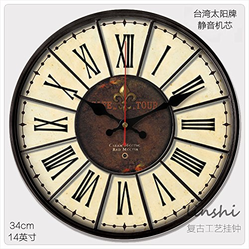Y-Hui The Silence! 14-Inch! Antique Clock Face Wall Clock With