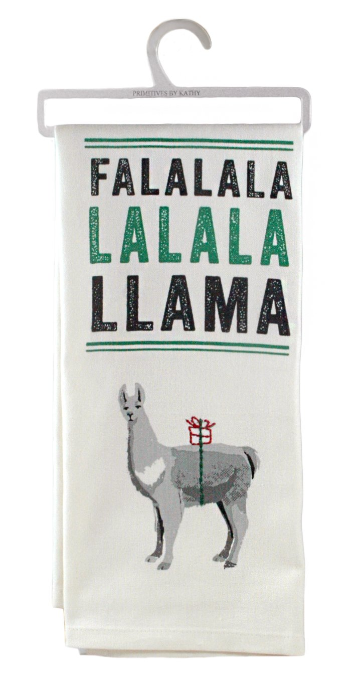 Primitives by Kathy Stitch Art Kitchen Towel, La La Llama