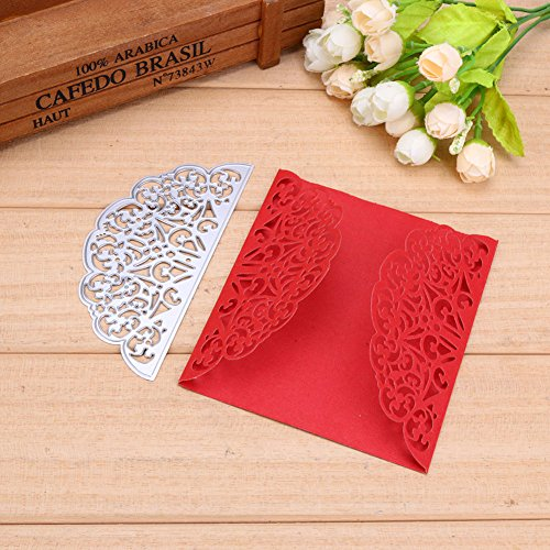 STORE-DECORATIVE - New Envelope Lace Frame Metal Cutting Dies Stencils for DIY Scrapbooking Photo Album Decorative Embossing DIY Paper Card Craft by STORE-DECORATIVE