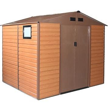 Forest L-Plus - Caseta para el jardín, con chapa de doble espesor, de 277 cm x 191 cm x 218 cm de altura: Amazon.es: Bricolaje y herramientas