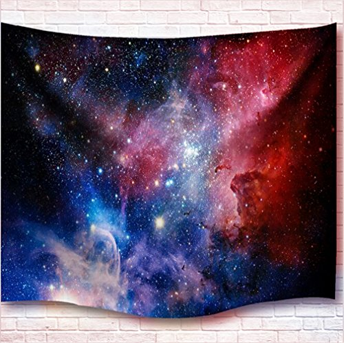 Colored Tapestry (Wall Hanging Tapestry Universe Galaxy Star Bohemian Tapestry Colored Printed Decorative Mandala Tapestry Wall Carpet (L59.1