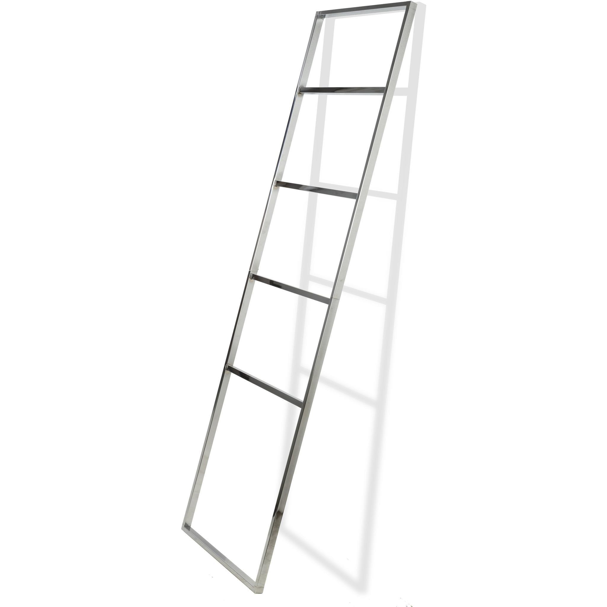 CP Standing Towel Rack Ladder for Bathroom Spa Towel Hanger, Stainless Steel