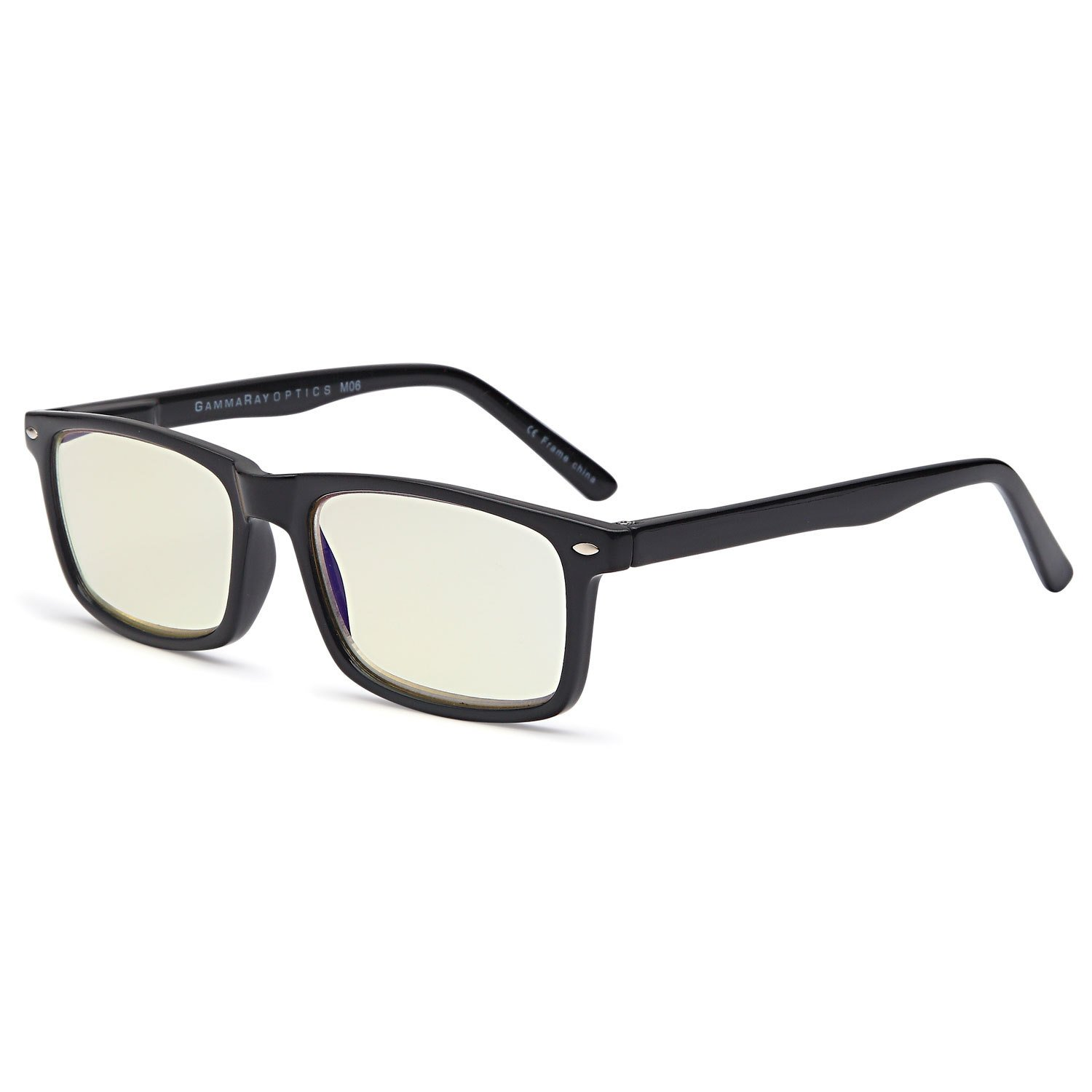 GAMMA RAY 899 Computer Readers UV Protection, Anti Glare, Anti Blue Light Eyeglasses, Spring Hinge Video Gaming Frames - With 1.25x Magnification Gamma Ray Optics