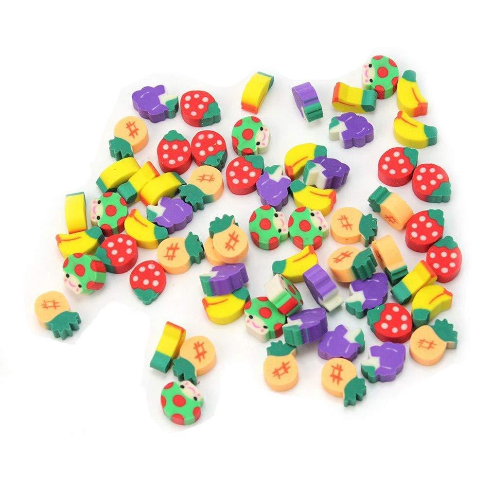 50pcs Borradores encantadores Borradores de colores con forma de fruta para estudiantes de TheBigThumb respetuosos con el medio ambiente