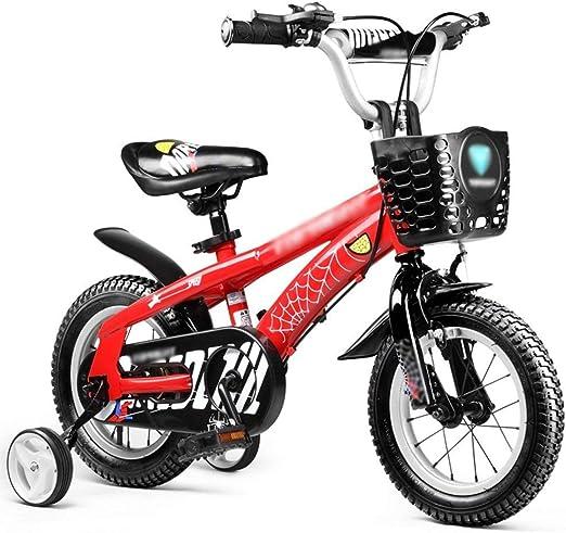 KOSGK Bicicletas para Mujeres/Hombres Bicicleta 12 Pulgadas 14 Pulgadas 16 Pulgadas O 18 Pulgadas Azul Rojo NiñO NiñA Ciclomotor (Color: Rojo TamañO: 12 Pulgadas): Amazon.es: Hogar