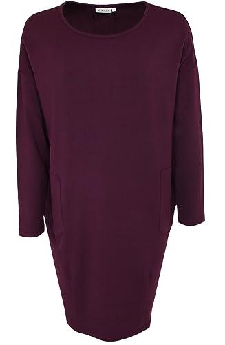 Masai Clothing -  Vestito  - Donna rosso Burgundy