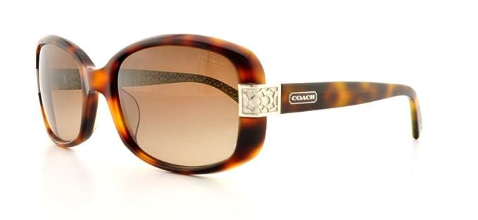 a72c9a139fb2 authentic coach lillian hc8003a sunglasses 503113 tortoise brown gradient  lens 59mm c0b8e bbdf3