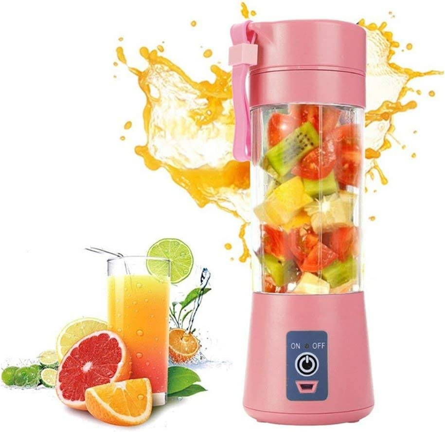 ZPF Juicer Cup, Portable Eletric Blender, USB Rechargeable Maker Juicer, High Borosilicate Glass, Used for for Juice, Smoothies, Beverage Storage