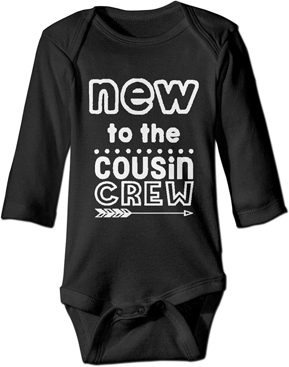 Marsherun Infant Babys Girls and Boys New to The Cousin Crew Long-Sleeve Bodysuit One-Piece Playsuit