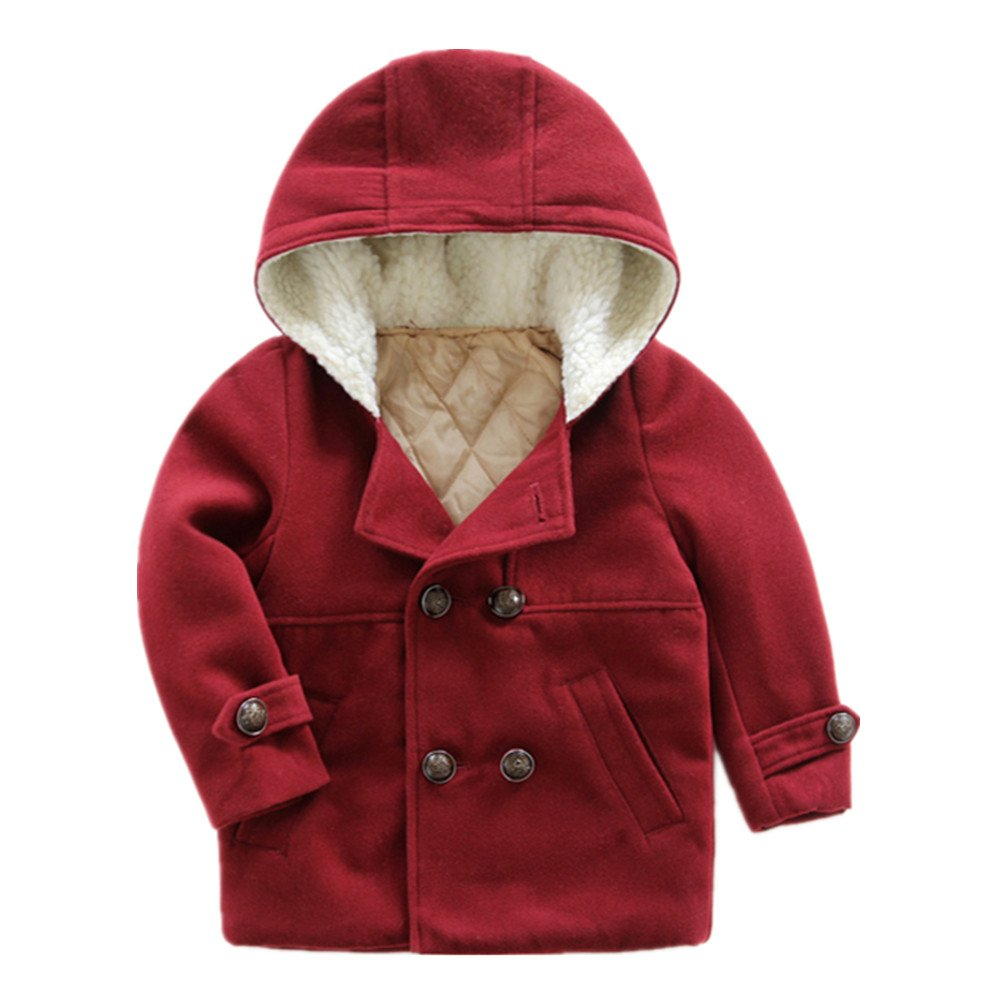 LittleSpring Little Boys' Dress Coat Buttons Hooded SLZ-S0498-us