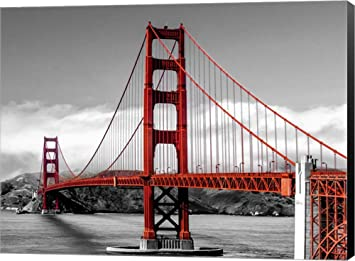 Amazon golden gate bridge san francisco by pangea images golden gate bridge san francisco by pangea images canvas art wall picture museum wrapped sciox Images