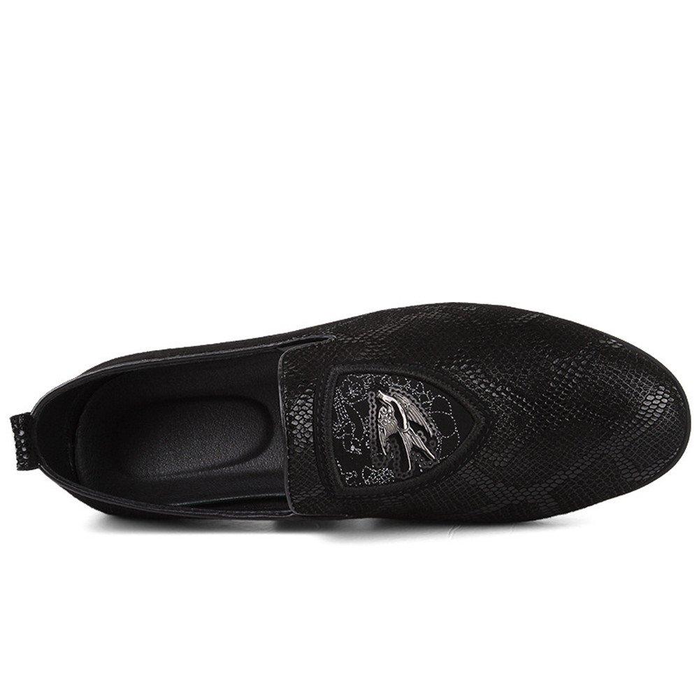 5a617c725c5e ... AFCITY Schwarze Lederne Schuhe der und Erwachsenen Männer Freizeit  Breathable und der Flache Stöckelschuhe Klassischer Stiefelschuh ...