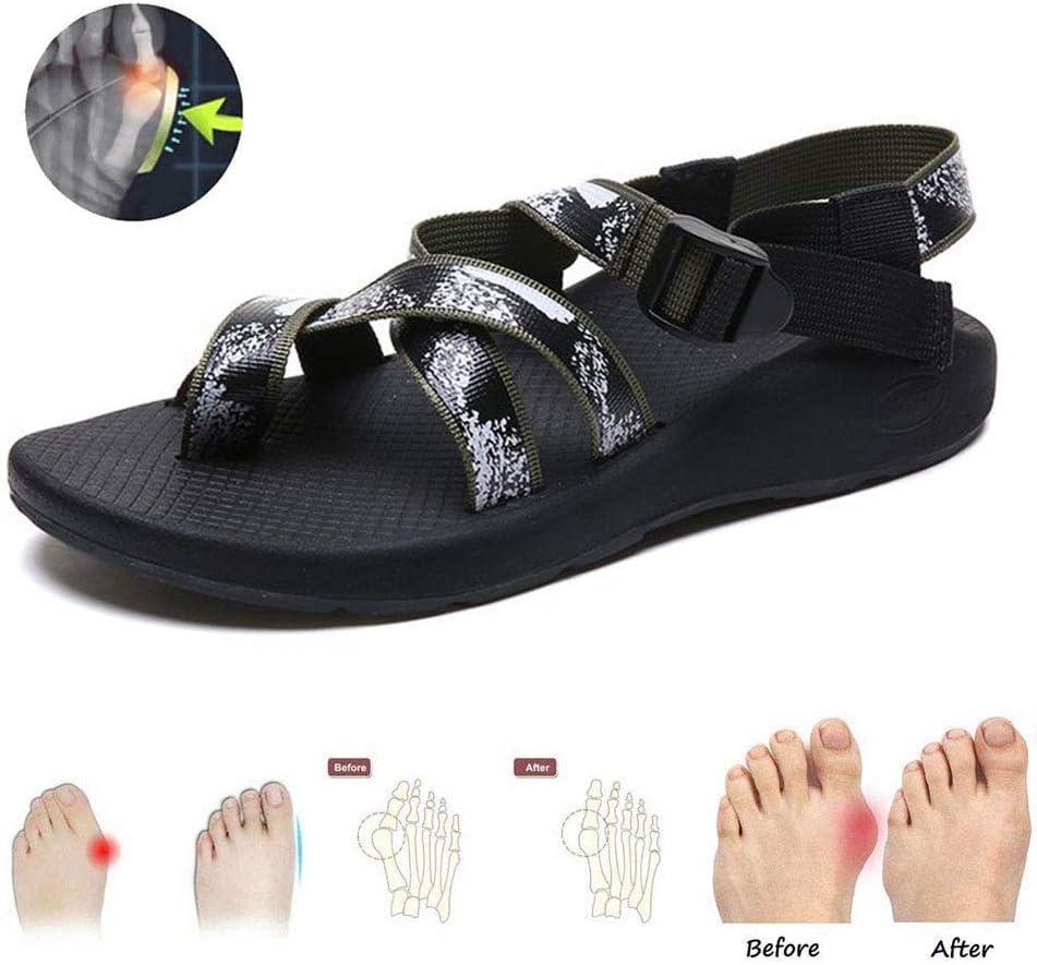 GRASSAIR Sandalias de Mujer, Zapatos de corrección de Dedo Gordo del pie Zapatillas de Viaje de Playa de Verano Antideslizantes Ortopédicos Corrector de juanetes,Green,38: Amazon.es: Hogar
