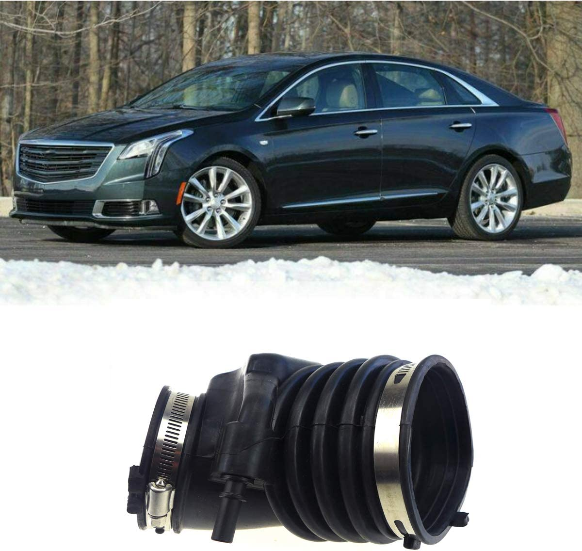 Air Intake Hose Tube Boot for Cadillac XTS 3.6 Liter 2013-2018, for Chevrolet Impala 3.6 Liter 2014-2018, Air Cleaner Intake Hose Boot Tube Duct, 22935937 22887315, 20885923