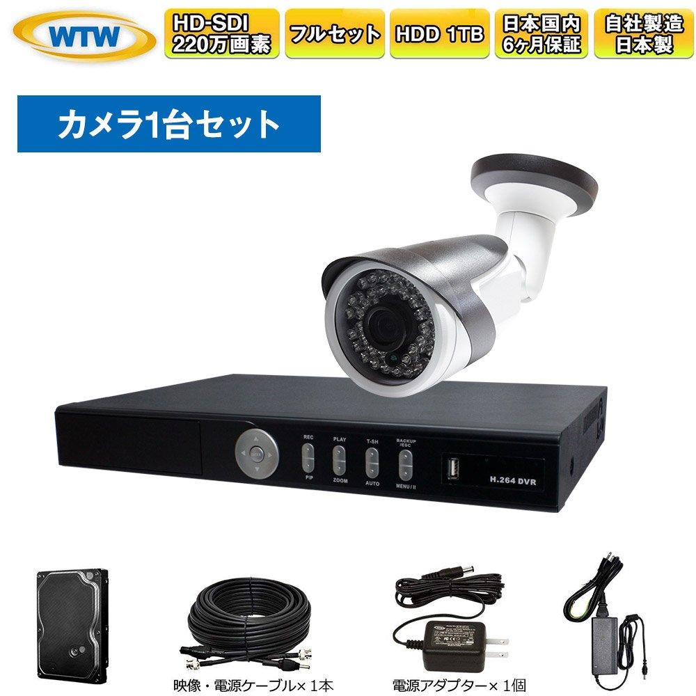 【格安saleスタート】 HD-SDI 防犯カメラ1台 防犯カメラ1台 監視カメラ 8ch録画機セット 1080P HD-SDI【日本製 国内保証サポート】屋外 赤外線 監視カメラ カメラ1台と録画機セット B07FPFTGMD, アイコンズ スーパーストア:dd729eac --- martinemoeykens-com.access.secure-ssl-servers.info