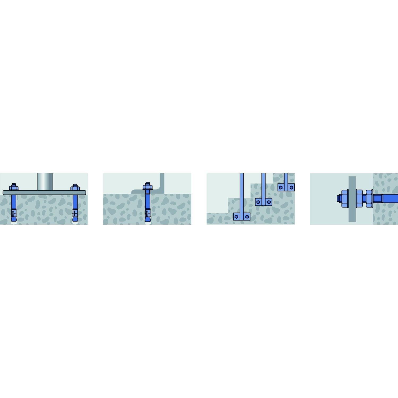 3201018 10 x 180 mm Mungo m2 Stahlbolzen mit U-Scheibe DIN 125 A 25 St/ücke
