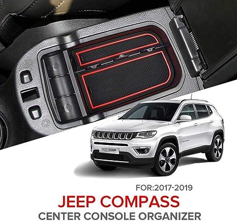 JDDIGI Car Armrest Storage Box Holder Container Glove Organizer for 2017 2018 2019 Jeep Compass