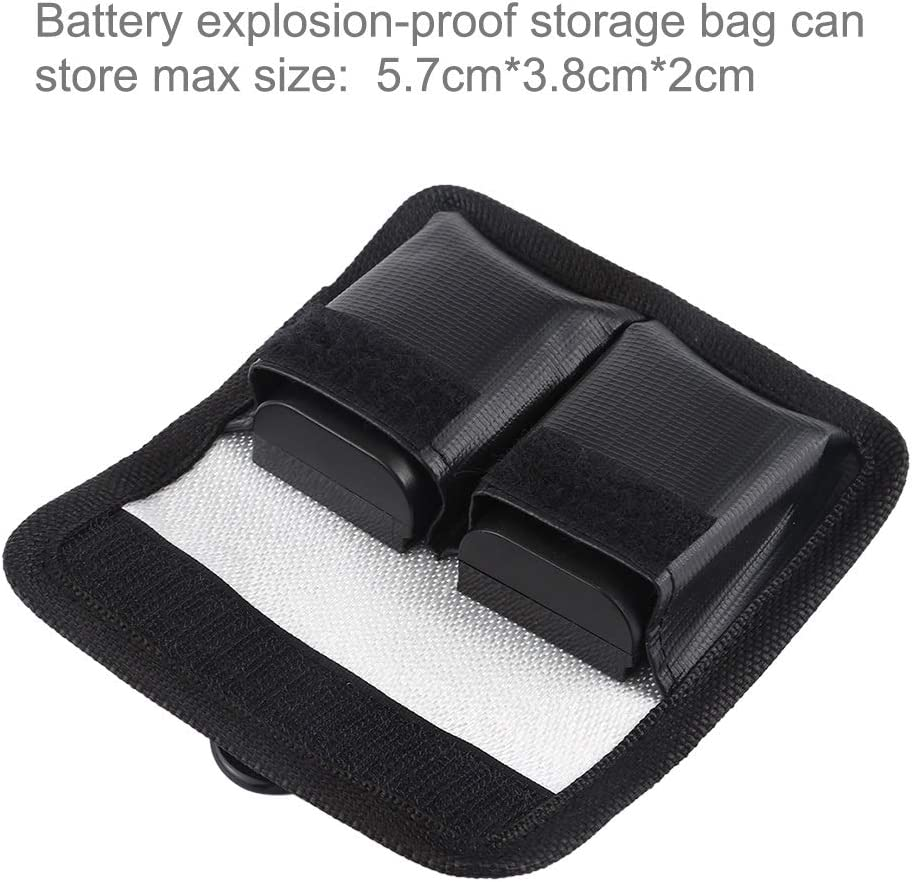 GuiPing Lithium Battery Explosion-Proof Safety Protection Storage Bag with Carabiner for Camera Battery Durable