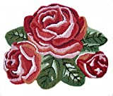 Ustide Handmde Floral Rug Thick Red Rose Handmade Rug Anti Slip Area Rugs Washable 23.6 x 31.5 Inch Review