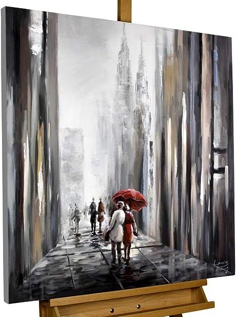 Kunstloft Peinture Acrylique Sur Toile Avec Toi à Mes Côtés 80x80cm Tableau Acrylique Peint
