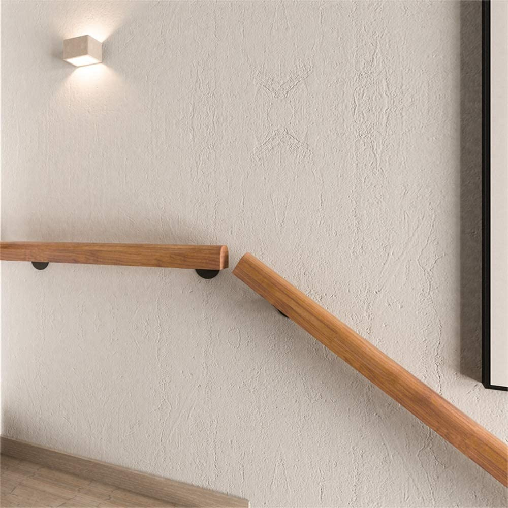 Home Kindergarten Guardrail Corridor Against The Wall Elderly Villa Construction Loft Children Pine Handrail Pine Anti-Slip Stair Handrail Handrail -Complete Kit 20 ft YIKE-Handrail 1 ft