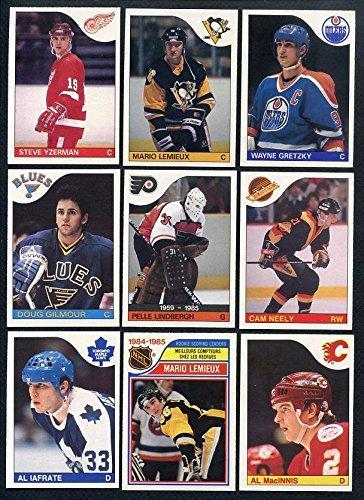 1985 O Pee Chee OPC Complete Hockey Set Mario Lemieux Rookie Card Wayne Gretzky