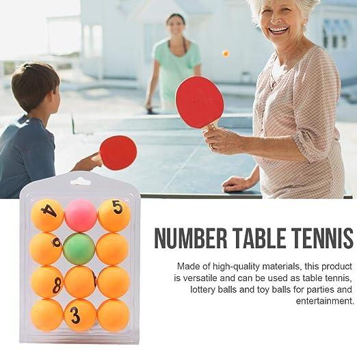 Bloomma 12 UNIDS Bolas De Tenis De Mesa, Número De Color Tenis De ...