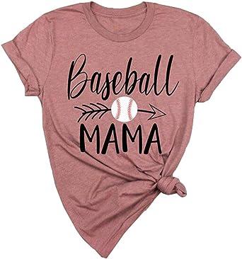 Baseball Mom T Shirt Baseball Mom Women/'s T-Shirt Ladies Tee 7 COLORS AVAILABLE
