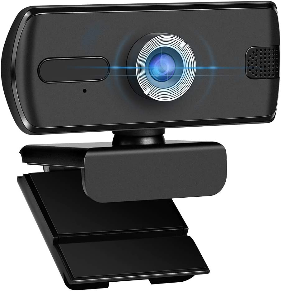 1080P Webcam Computer Camera, USB Plug and Play, Webcam with Microphone, Computer Webcams for PC MAC Laptop Desktop, Stream Web Camera for Skype,YouTube, Live Broadcast Video Conference (Black)