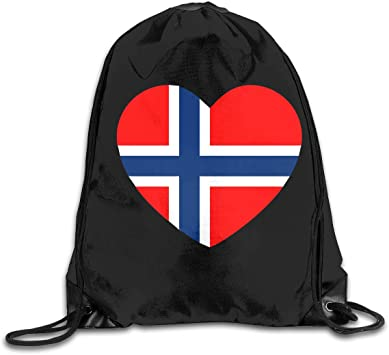 Athletic Rucksack Gym Bag For Gym Sports Travel Men//Women Norway Flag String Drawstring Bag