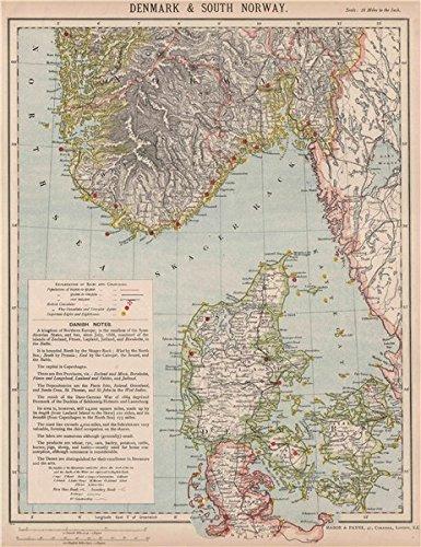 Karte Norwegen Dänemark.Skandinavien Dänemark Southern Norwegen Leuchttürme Railways