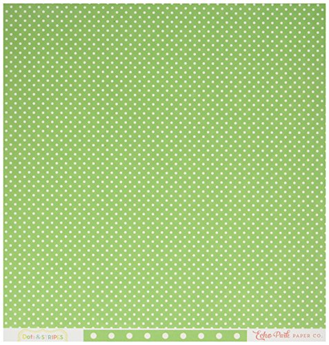 Echo Park Paper DS16016 Summer Dots & Stripes Double-Sided Cardstock (25 Sheets Per Pack), 12