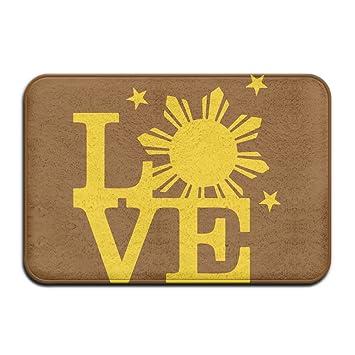 Amazon Filipino Sun Bright Love Indoor Outdoor Entrance Rug Non