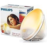 Philips Wake-Up Light Alarm Clock Coloured Sunrise Simulation, 5 Sounds and Radio Function - HF3520/01