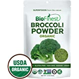 Biofinest Broccoli Powder -100% Pure Freeze-Dried Antioxidant Superfood - USDA Certified Organic Kosher Vegan Raw Non-GMO - Digestion & Immunity - for Smoothie Beverage Blend (4 oz Resealable Bag)