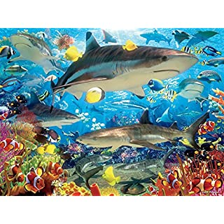 Ceaco Reef Sharks Puzzle (1500 Piece)