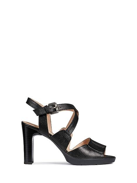 Estate Annya shoes Neri High Amazon D Sandal Geox ED9HIW2