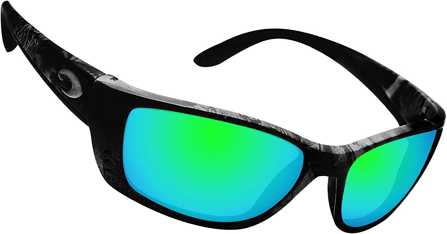 Glintbay 100/% Precise-Fit Replacement Sunglass Lenses for Costa Del Mar Fisch