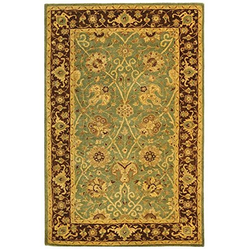 Safavieh Antiquities Collection AT21H Handmade Traditional Oriental Green and Brown Wool Area Rug (5' x 8')