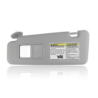 Left Gray Sun Visor For Toyota 2008-13 Highlander W/Vanity Light 74320-48500-B0: Automotive