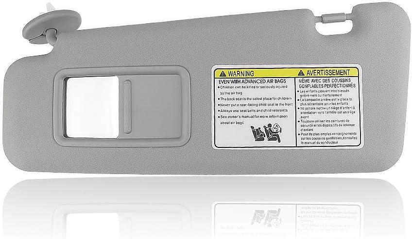 Left Gray Sun Visor For Toyota 2008-13 Highlander W/Vanity Light ...