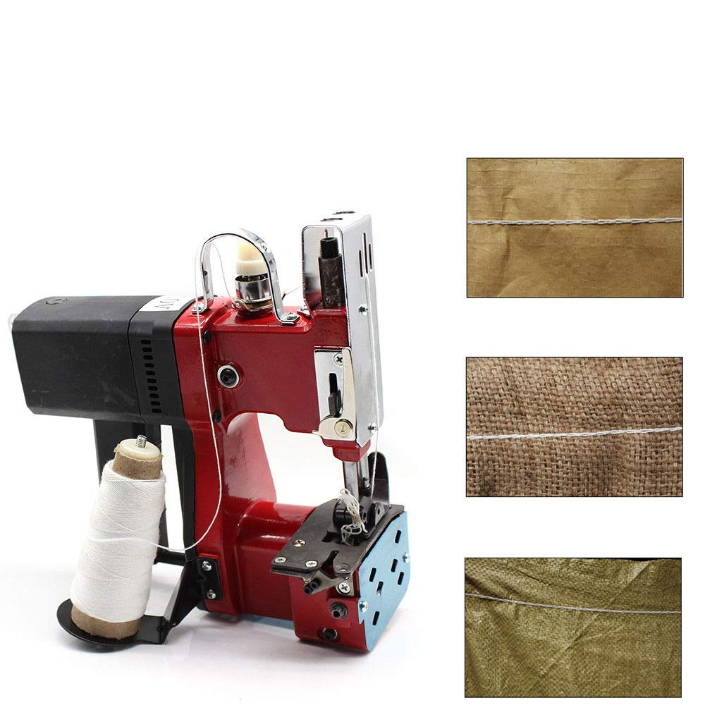 Seal Sewing Machine 110V Industrial Bag Closer Closing Machine Portable Sewing Electric Stitcher Knitted Bag Sealing Closing Packing Machine Closer for Woven Snakeskin Bag Sack
