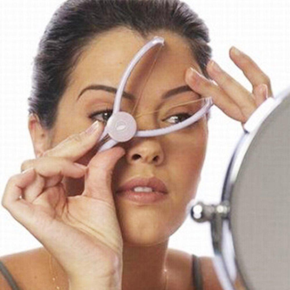 Facial Hair Remover Kit Lightweight Women Eyebrow Threading Epilator Makeup Beauty Tools Hair Manual Remover for Girls Ladies Purple UxradG