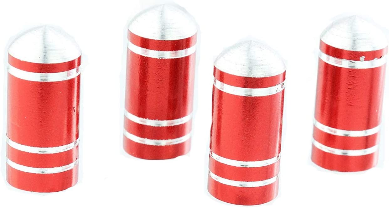 4PCs Red Lunsom Chess Shape Valve Stem Caps Car Wheels Valves Hole Cover Accessories Fit Most Vehicle Motorcycle
